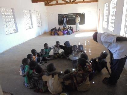 Inside the classroom at Mkambwe CBCC