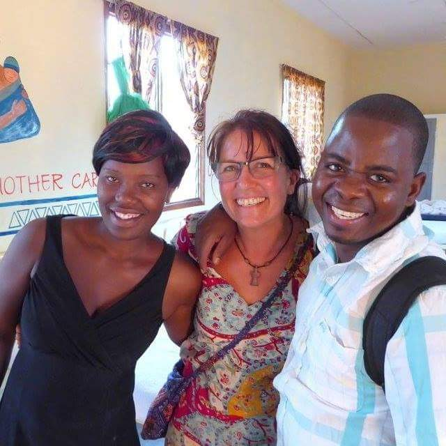 Our amazing midwives, Diana and Abiya, with CEO Heather