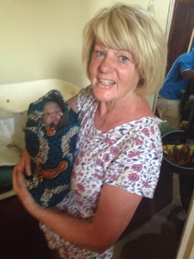 Liz and the newborn baby!