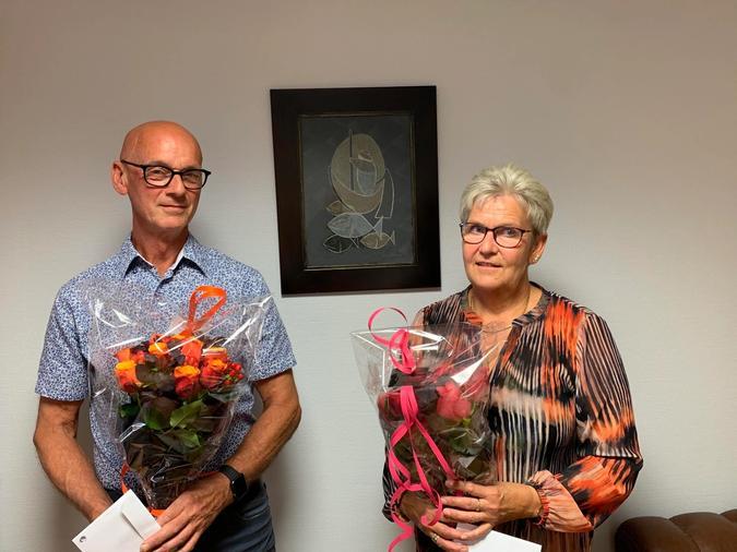 Vi gratulerer ekteparet Anne og Svein Venøy, som begge har hatt sin arbeidsplass her hos oss på Fiskevegn i 40 år!