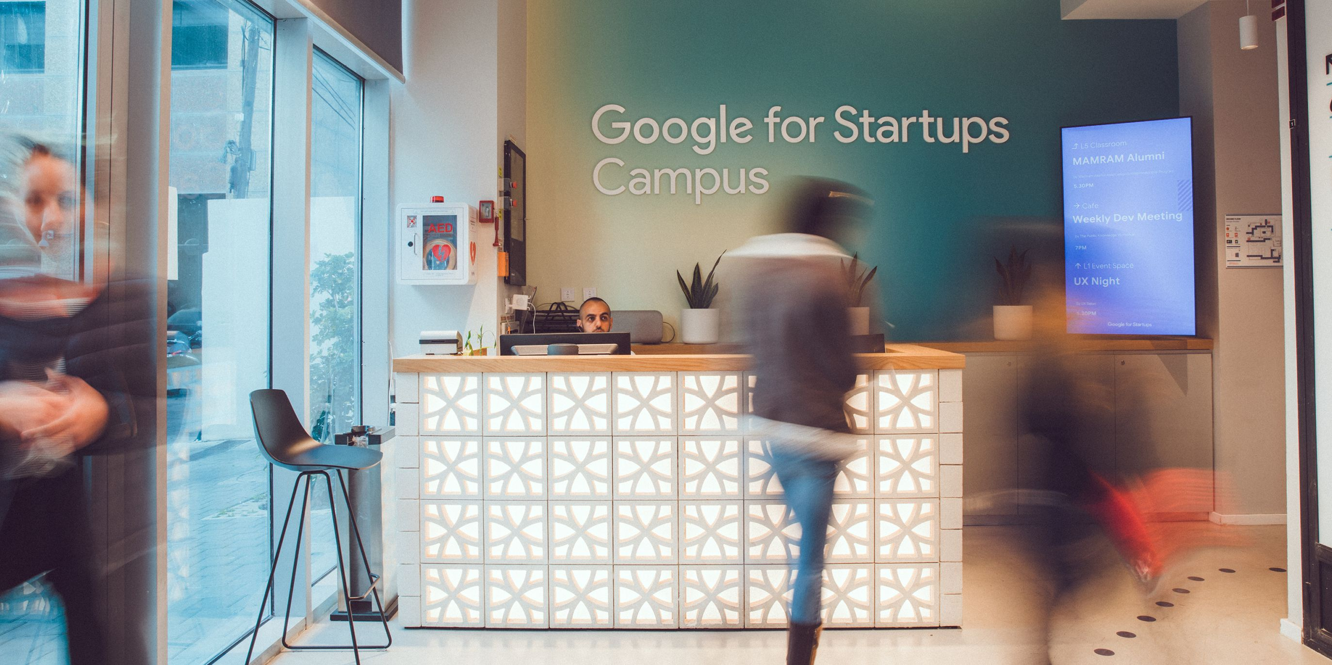 Google for Startups Campus Tel Aviv welcome desk