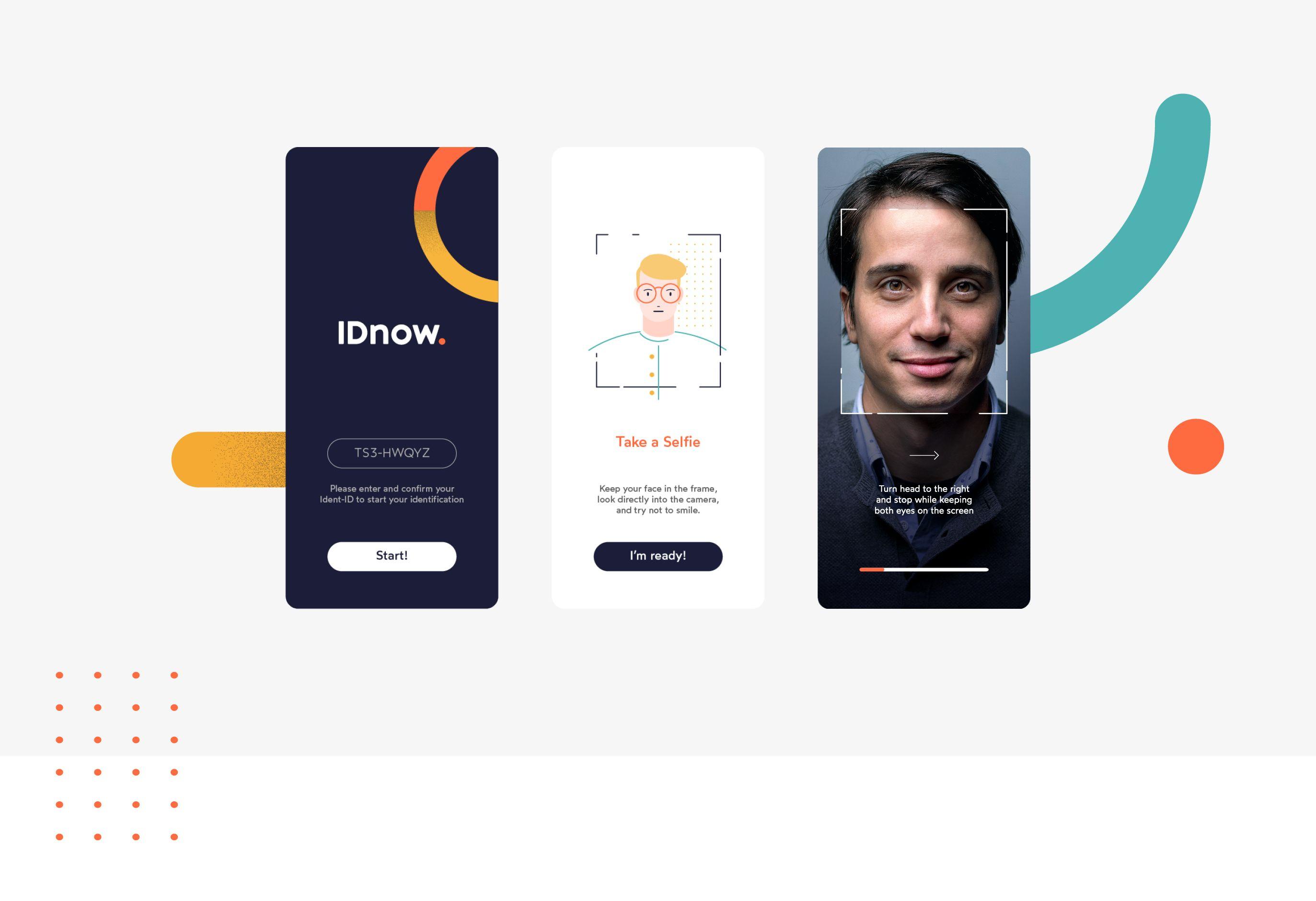 IDnow app screenshots