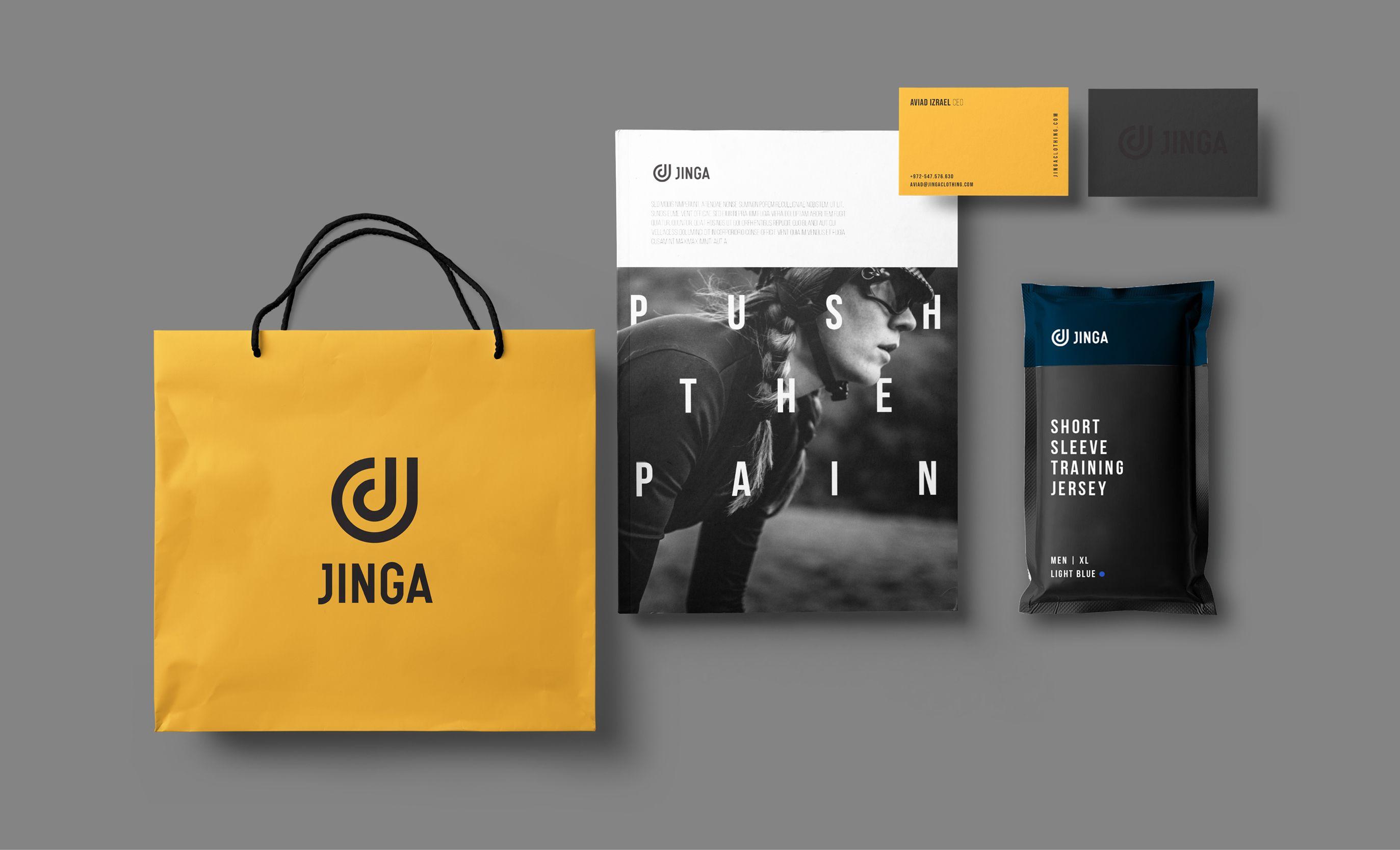 Jinga branding collateral