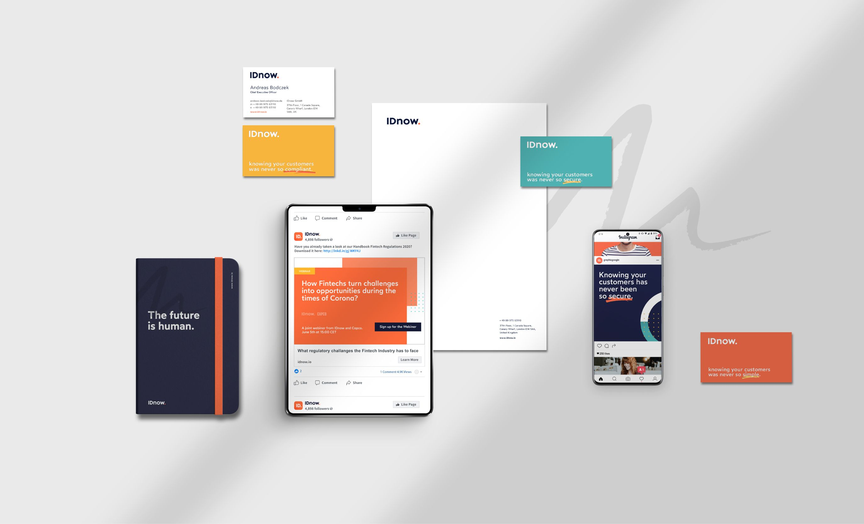 IDnow branding collateral