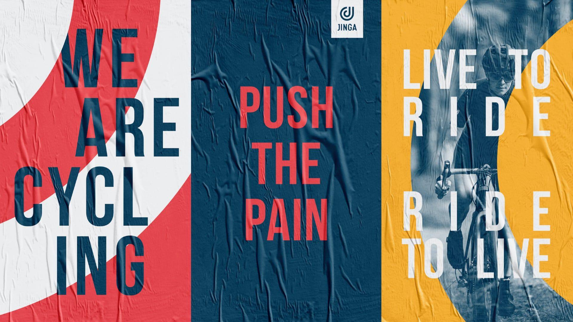 Jinga branded posters