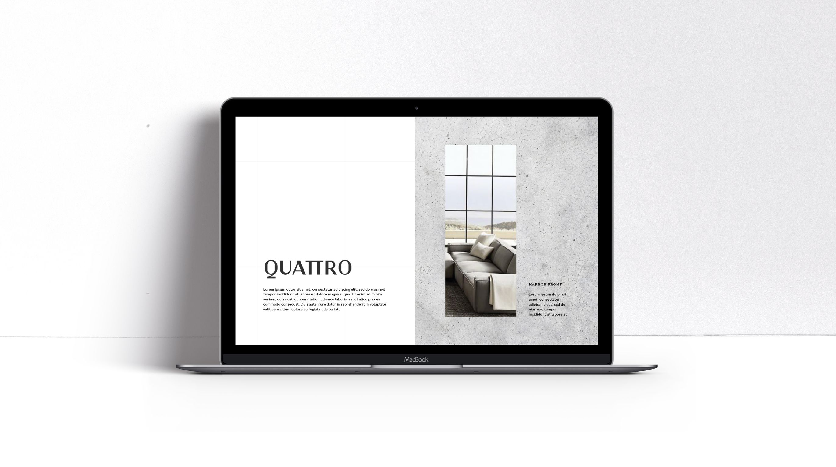 Quattro website in laptop