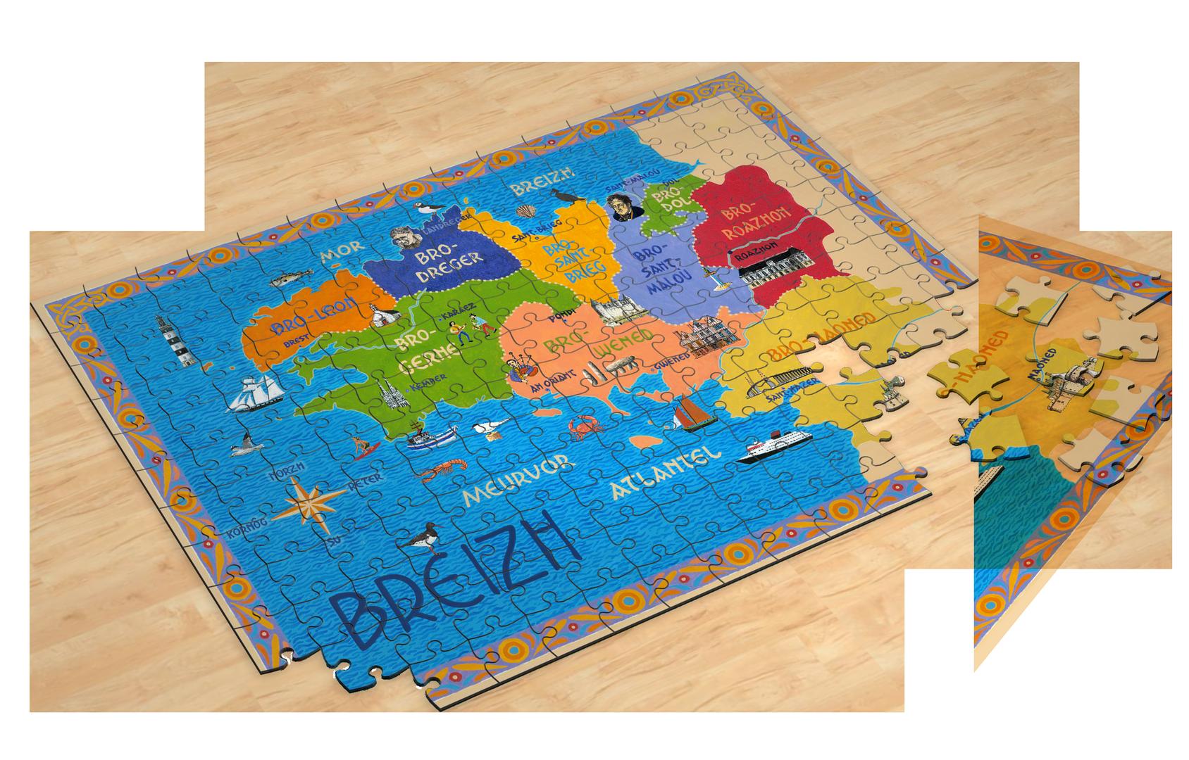 Puzzle Breizh (280 pièces)