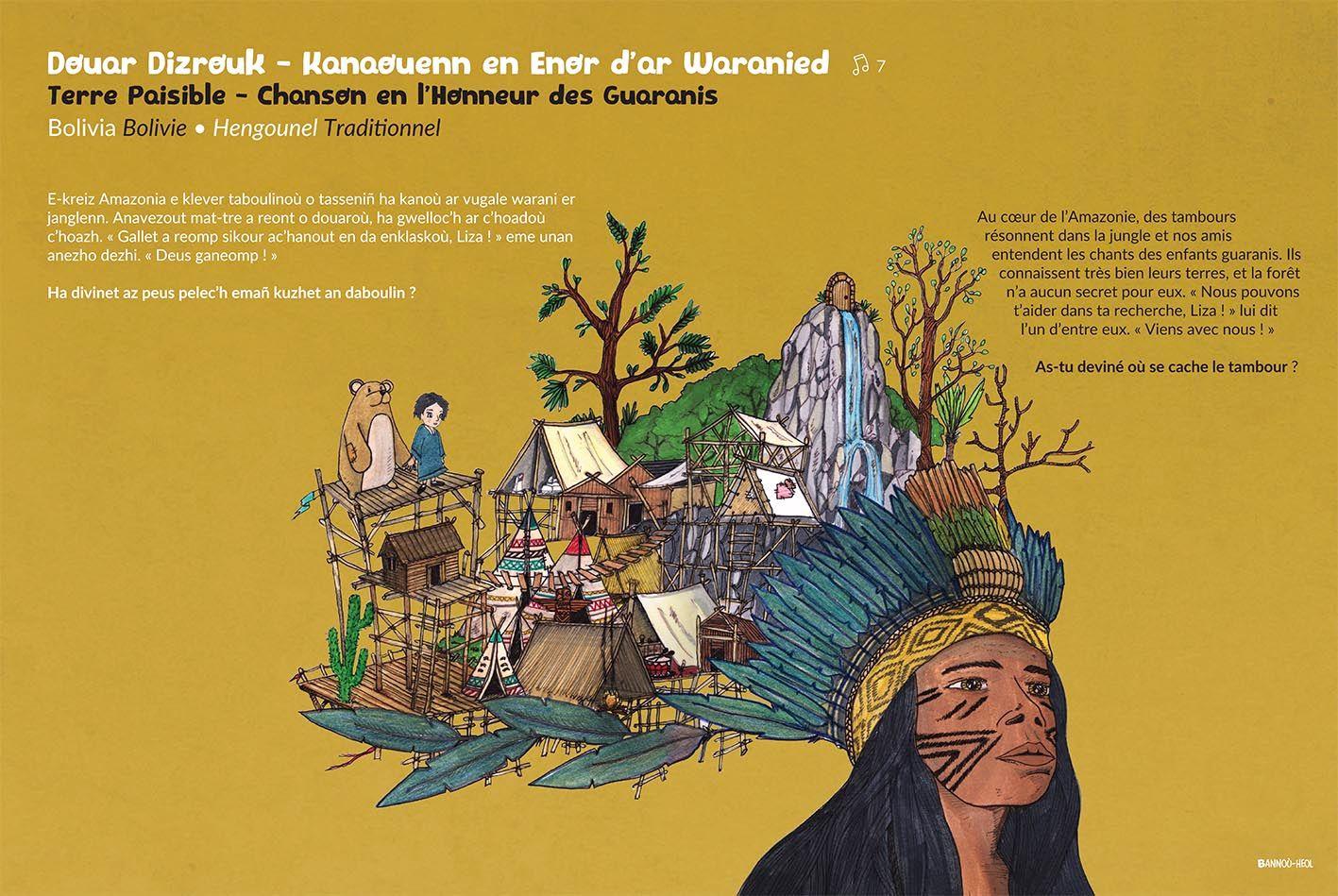 """Expo. Des planches du livre-CD """"Kan ar Bed"""" à la mairie"""
