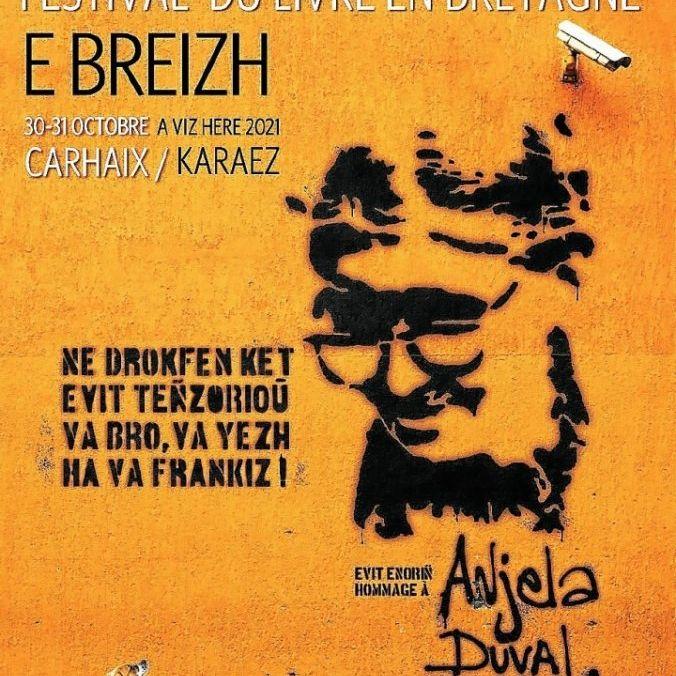 Le Festival du livre en Bretagne qui se déroulera à Carhaix dévoile son affiche