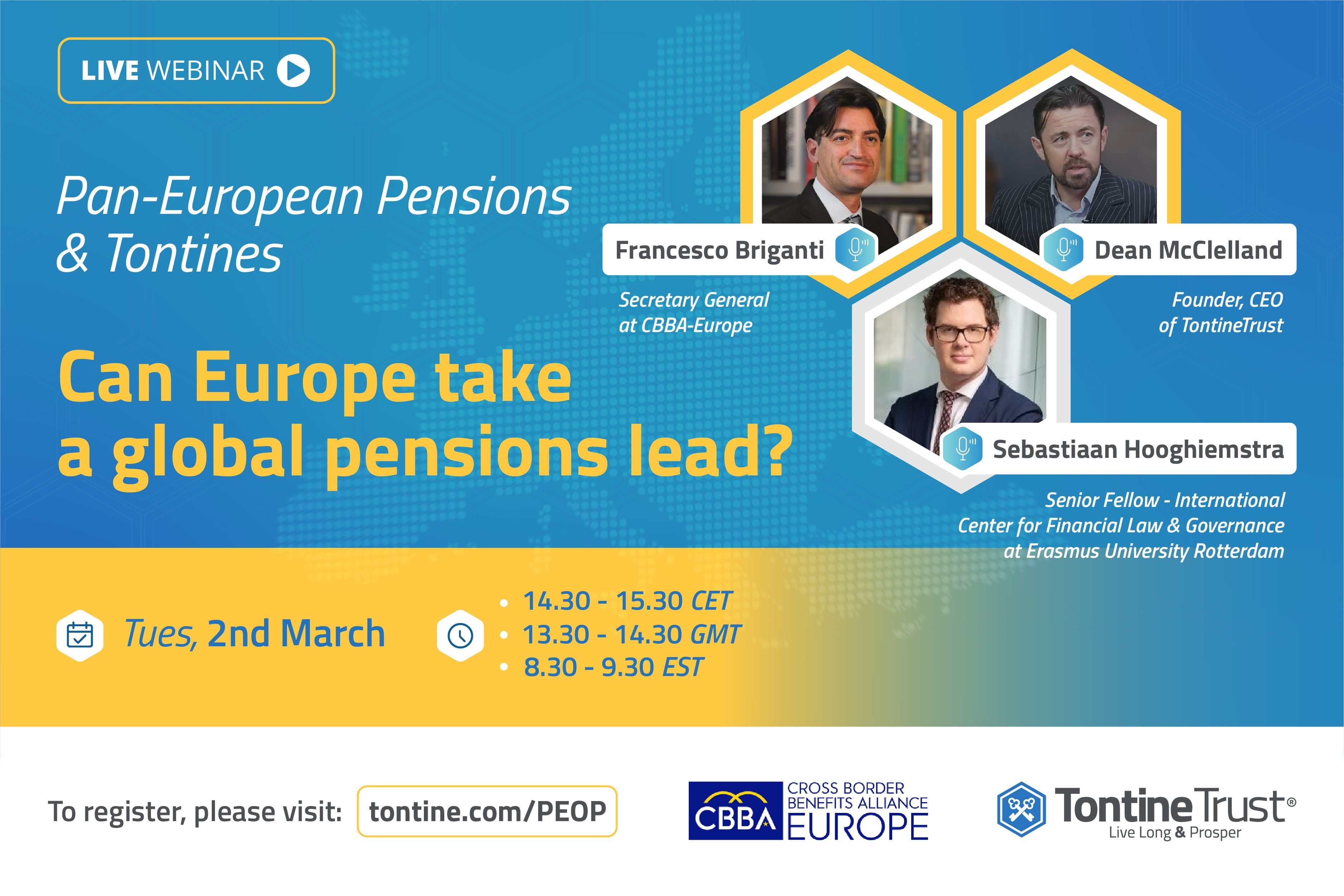 Pan-European Pensions & Tontines: Can Europe take a global pensions lead?