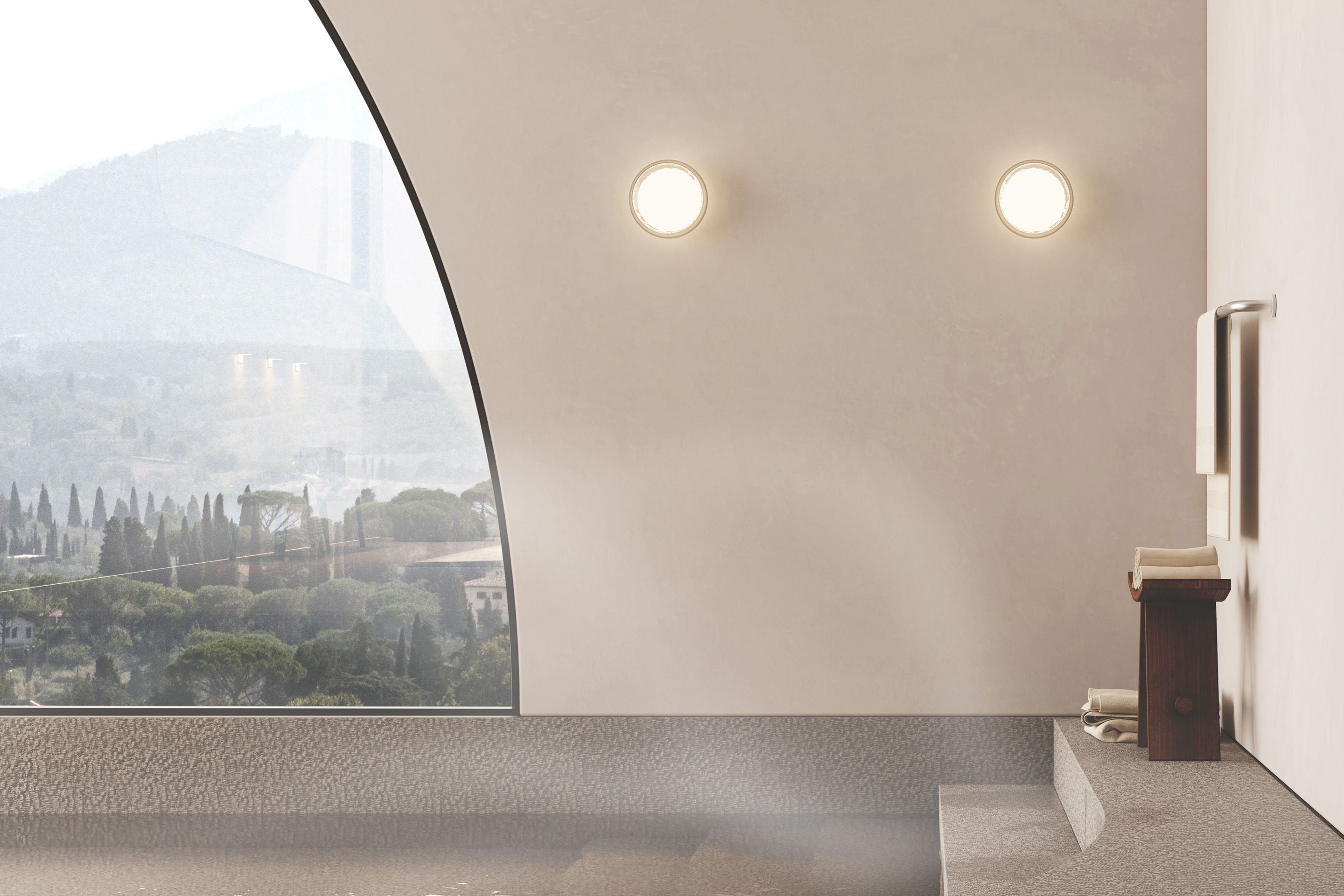 Virtual Sanctuary — Created by Tom Hancocks. Print sconce, small globe in clear/frosted glass