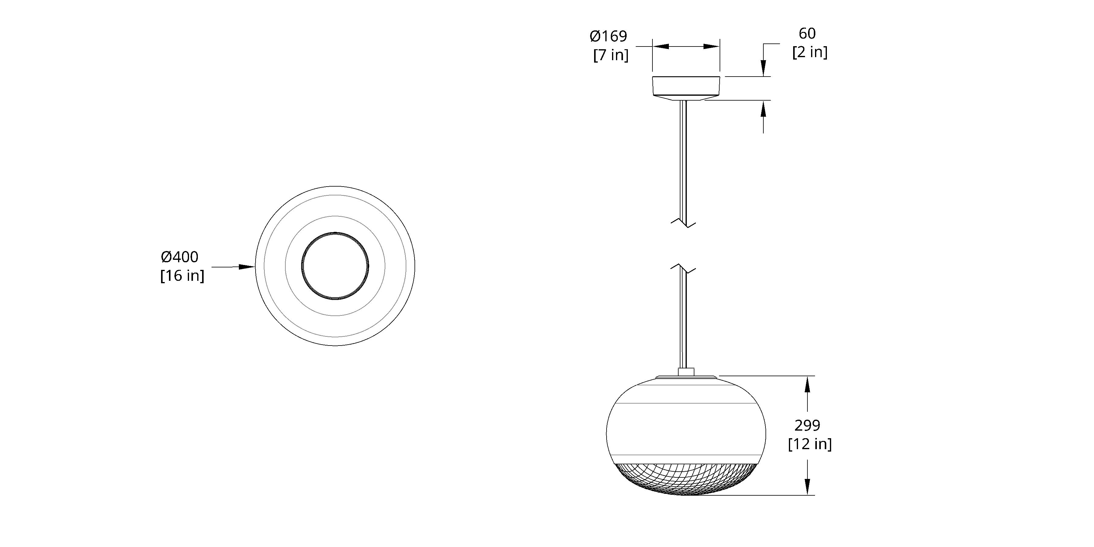 PRP-CS-B Print Large Pendant Cable Suspension