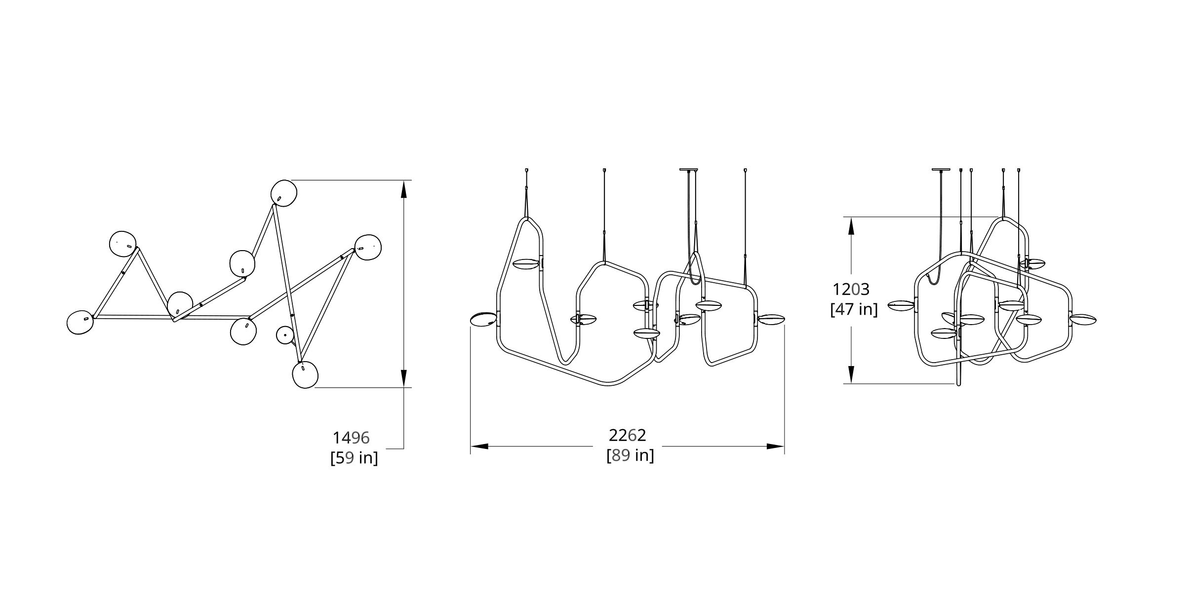 PD-8 Palindrome Chandelier (Dynamic) Dimension