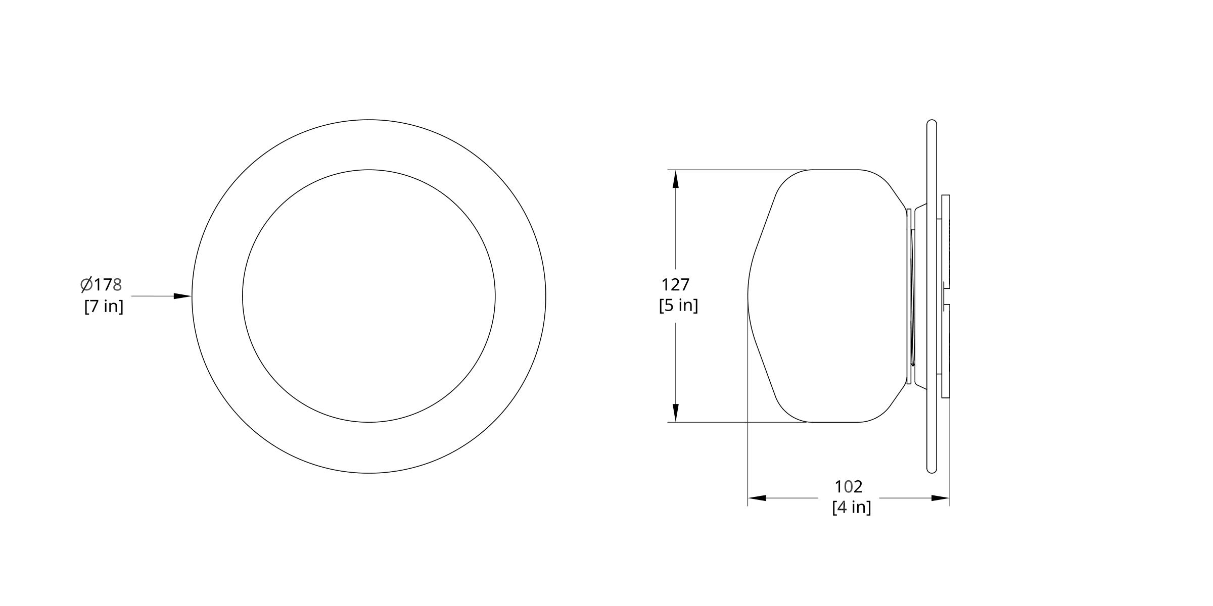 PAS-1D Pastille Disc Sconce Dimension