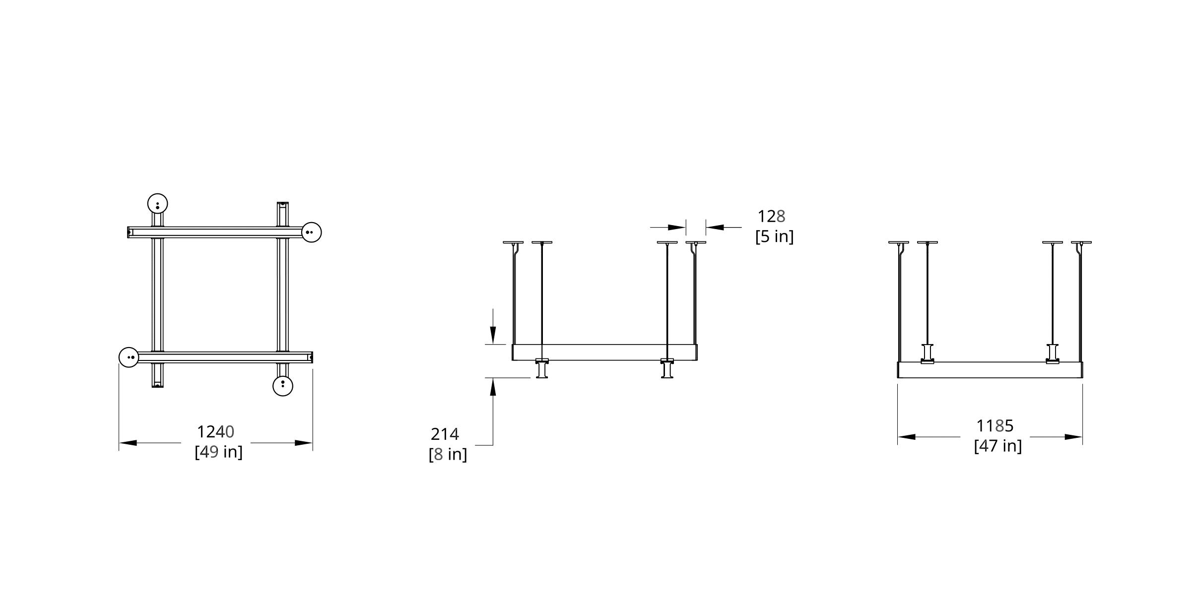 Latis Square 4' Dimension