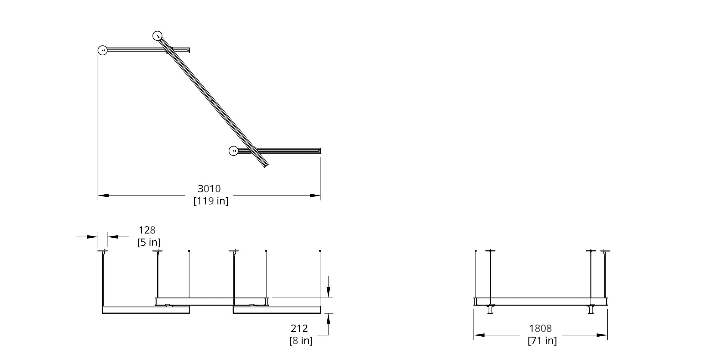 Latis Zig Zag 4-8-4 Style 50 Dimension