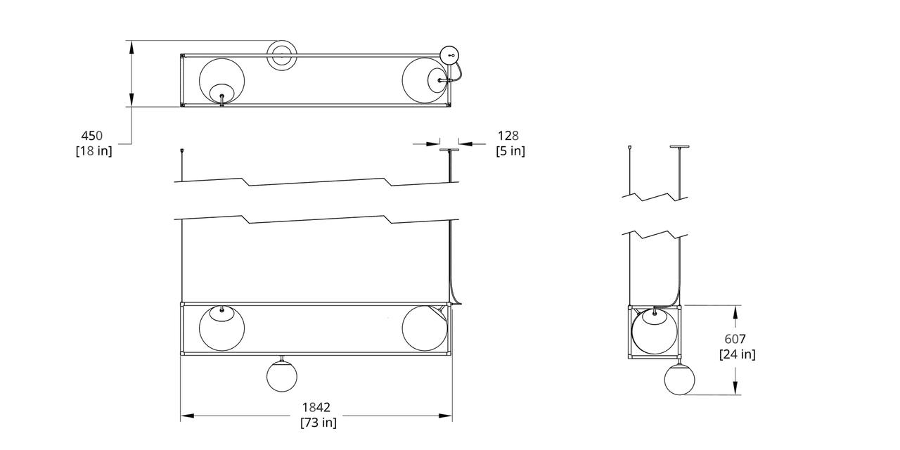 RGW-3 Witt Chandelier Dimension