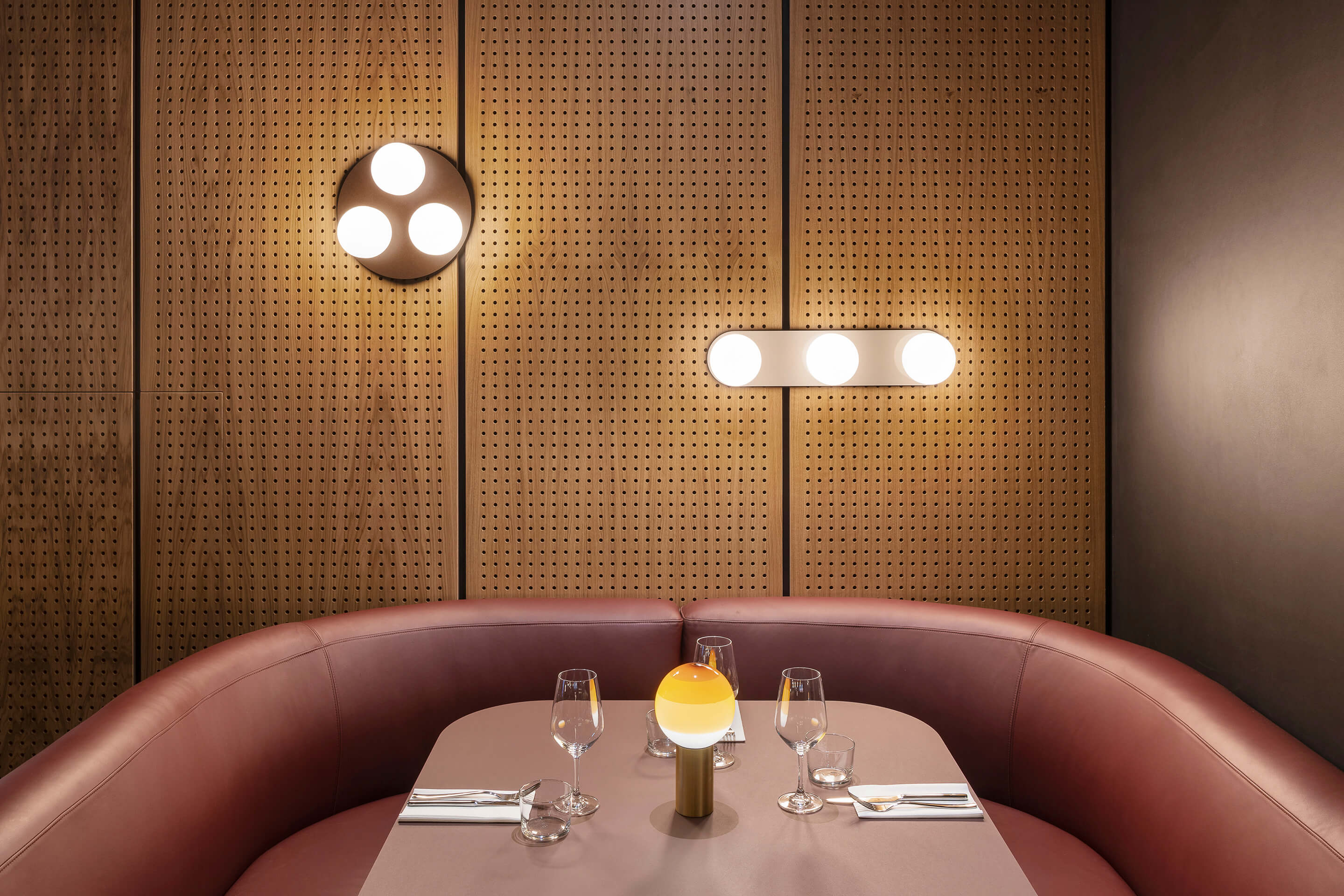 Spiritland — London, United Kingdom. Pastille Cluster & Vanity sconce, matte black & matte white