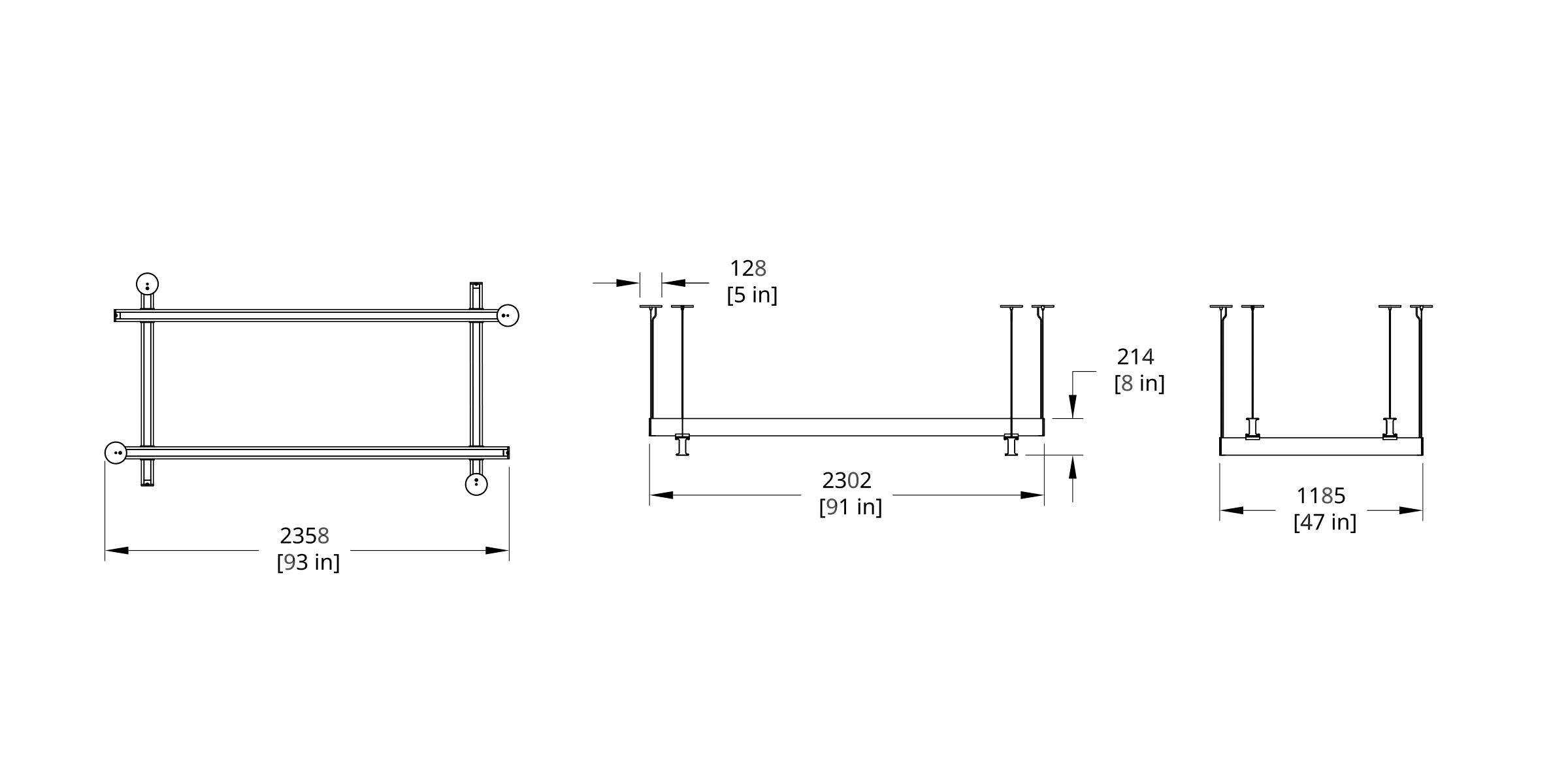 Latis Rectangle 8x4' Dimension (Feature)