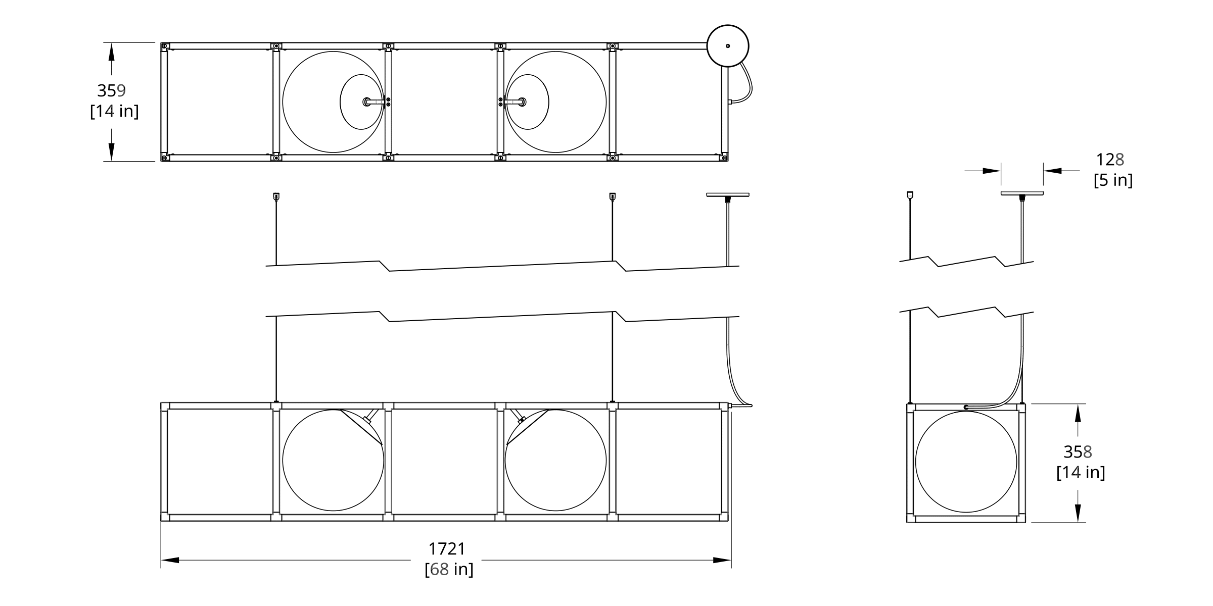 RGW-4 Witt Chandelier Dimension