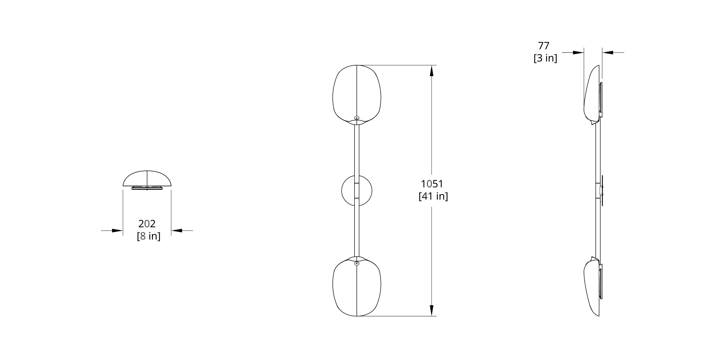 PTS-2M Pilot Sconce Dimension