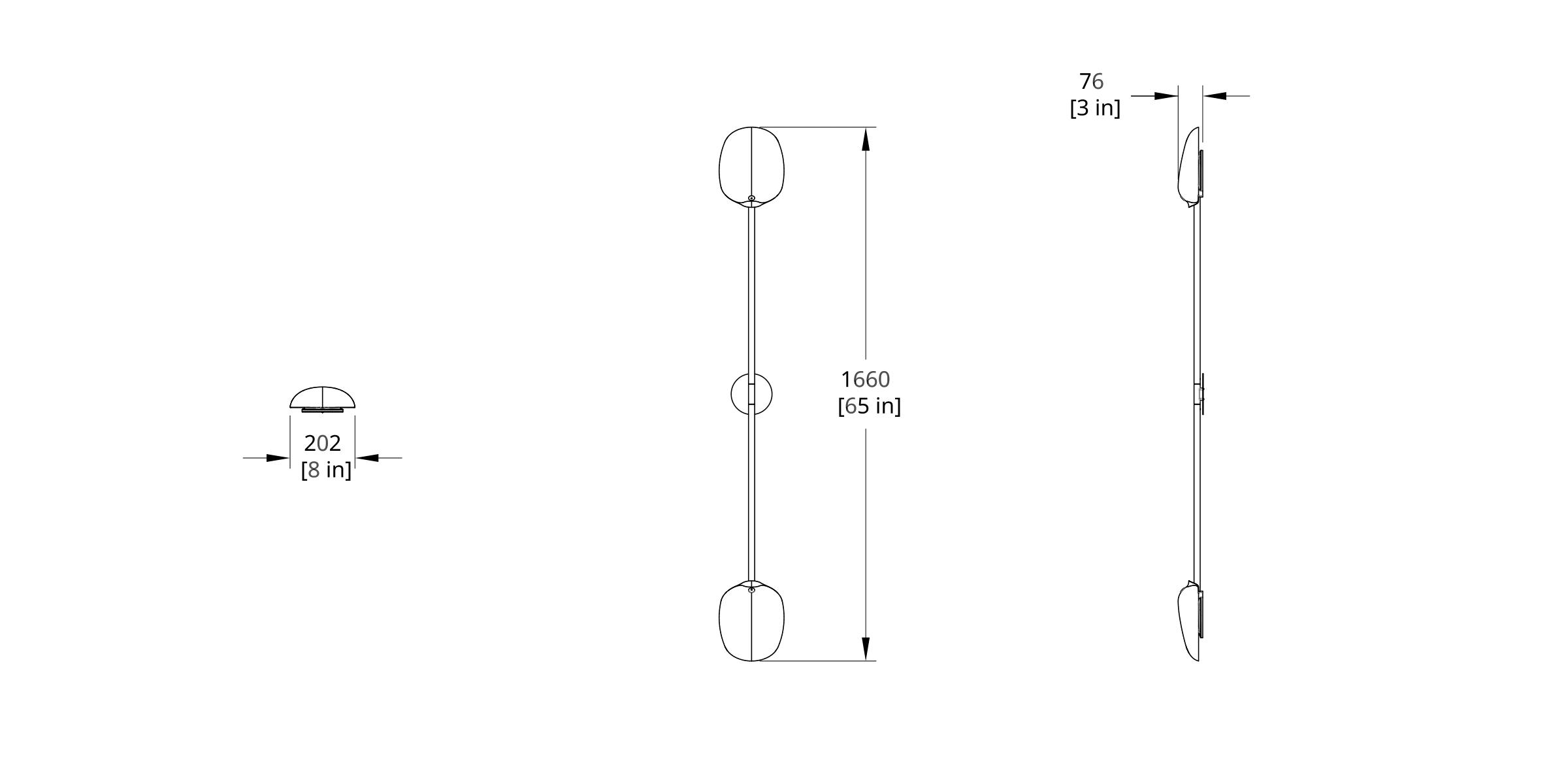 PTS-2L Pilot Sconce Dimension (Feature)
