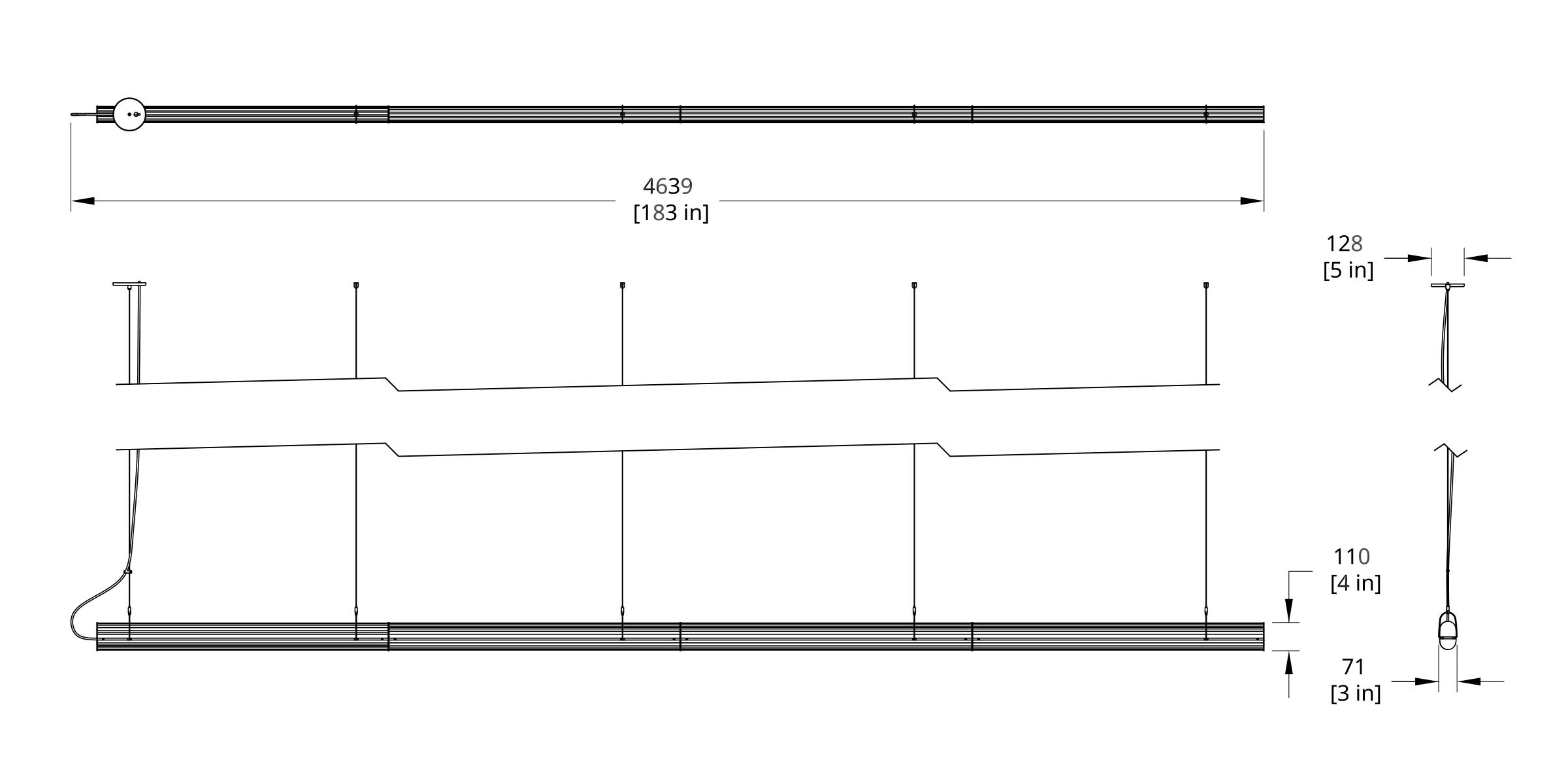 QP-176 Queue Pendant Dimension