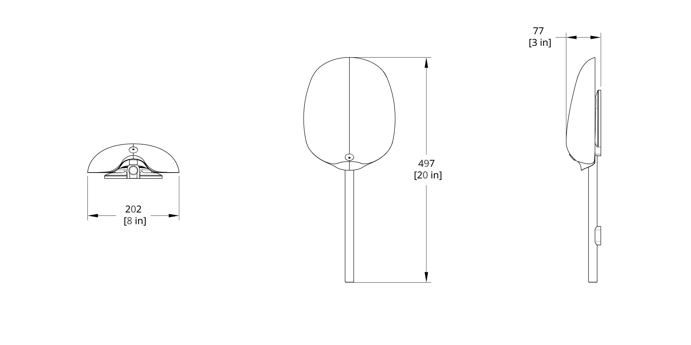 PTS-1S Pilot Sconce Dimension