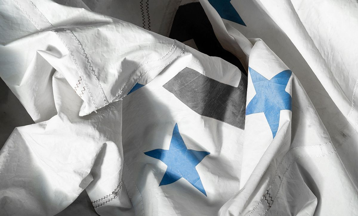 Reclaimed sail cloth takes on a new form as an AllSew shade