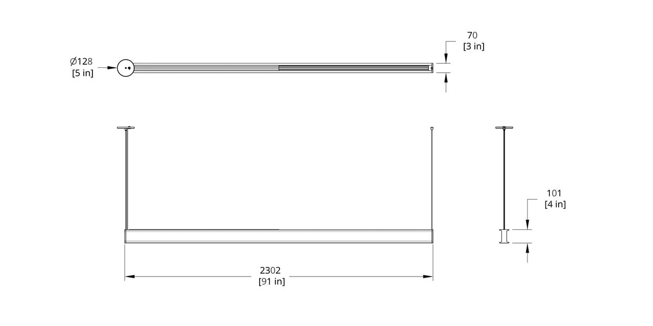 LS1-8 Latis 8' Pendant Dimension