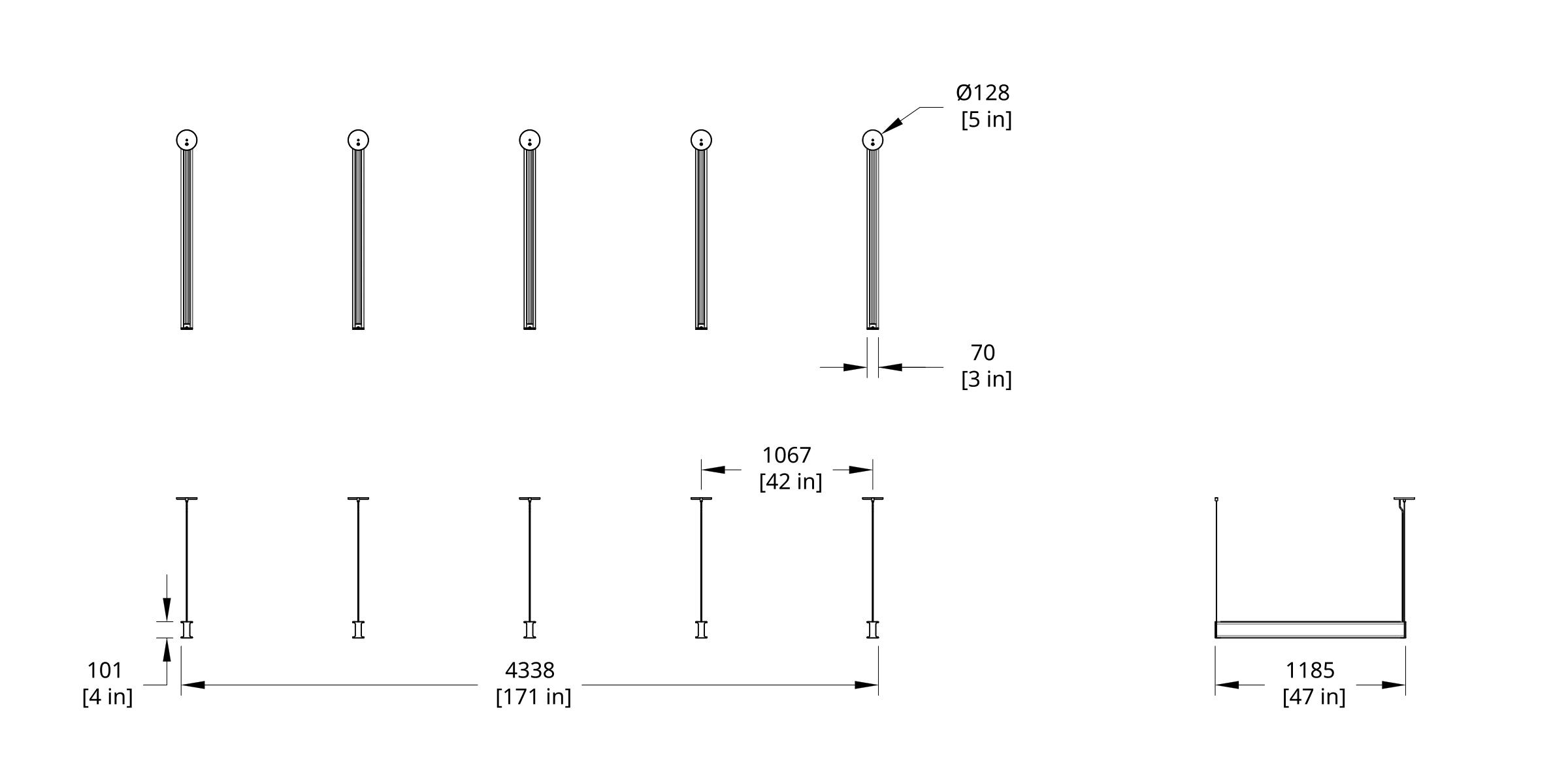 LS Latis Array 4' Dimension