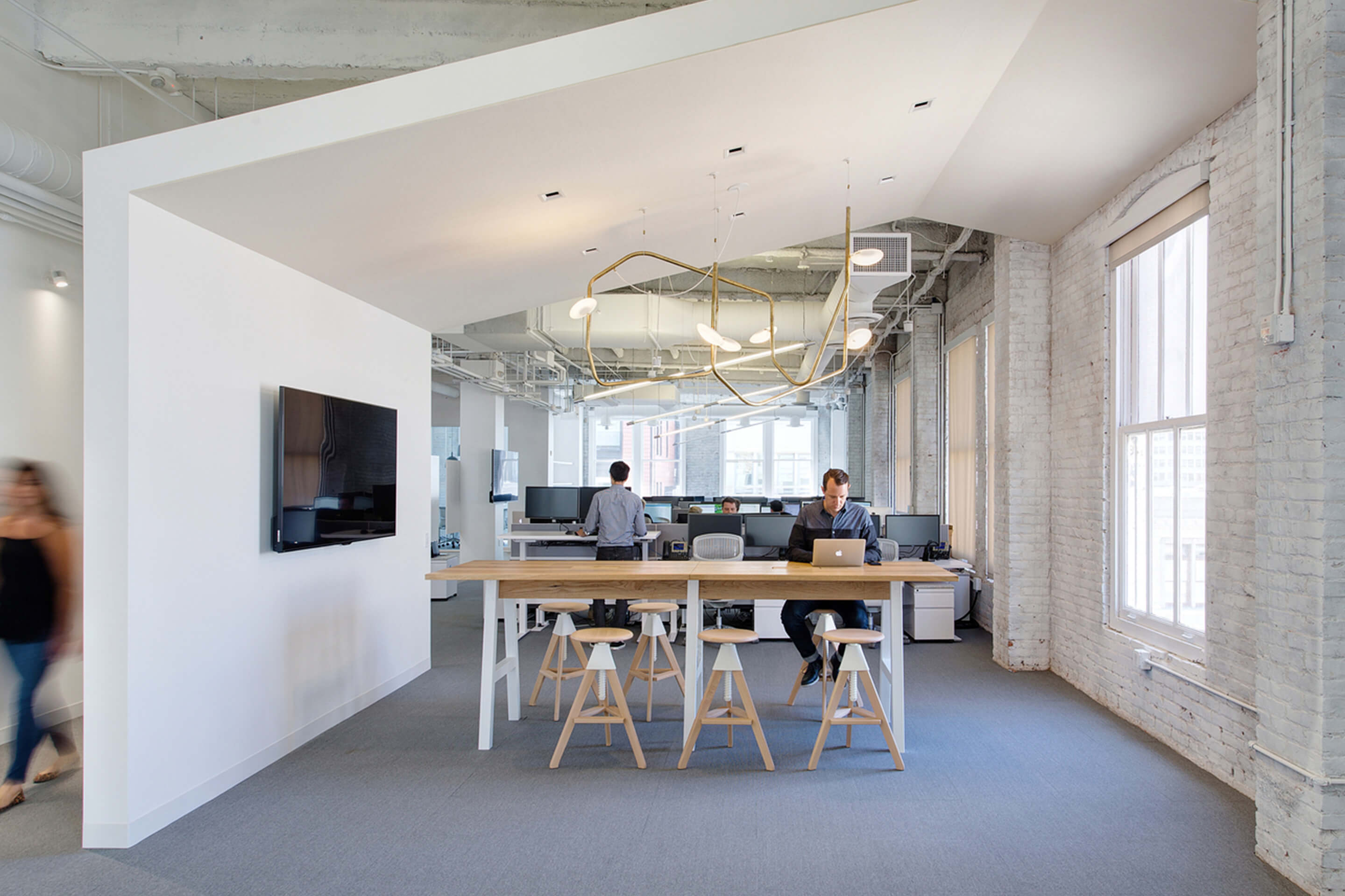 Squarespace — San Francisco, CA. Palindrome 6, mottled brass