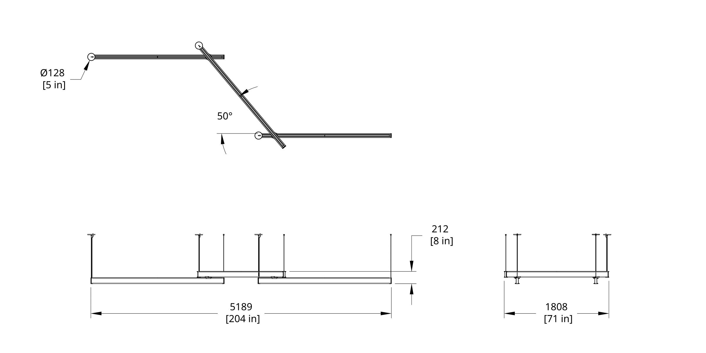 LS3-888 Latis Zig Zag 8-8-8 (Style 50) Dimension