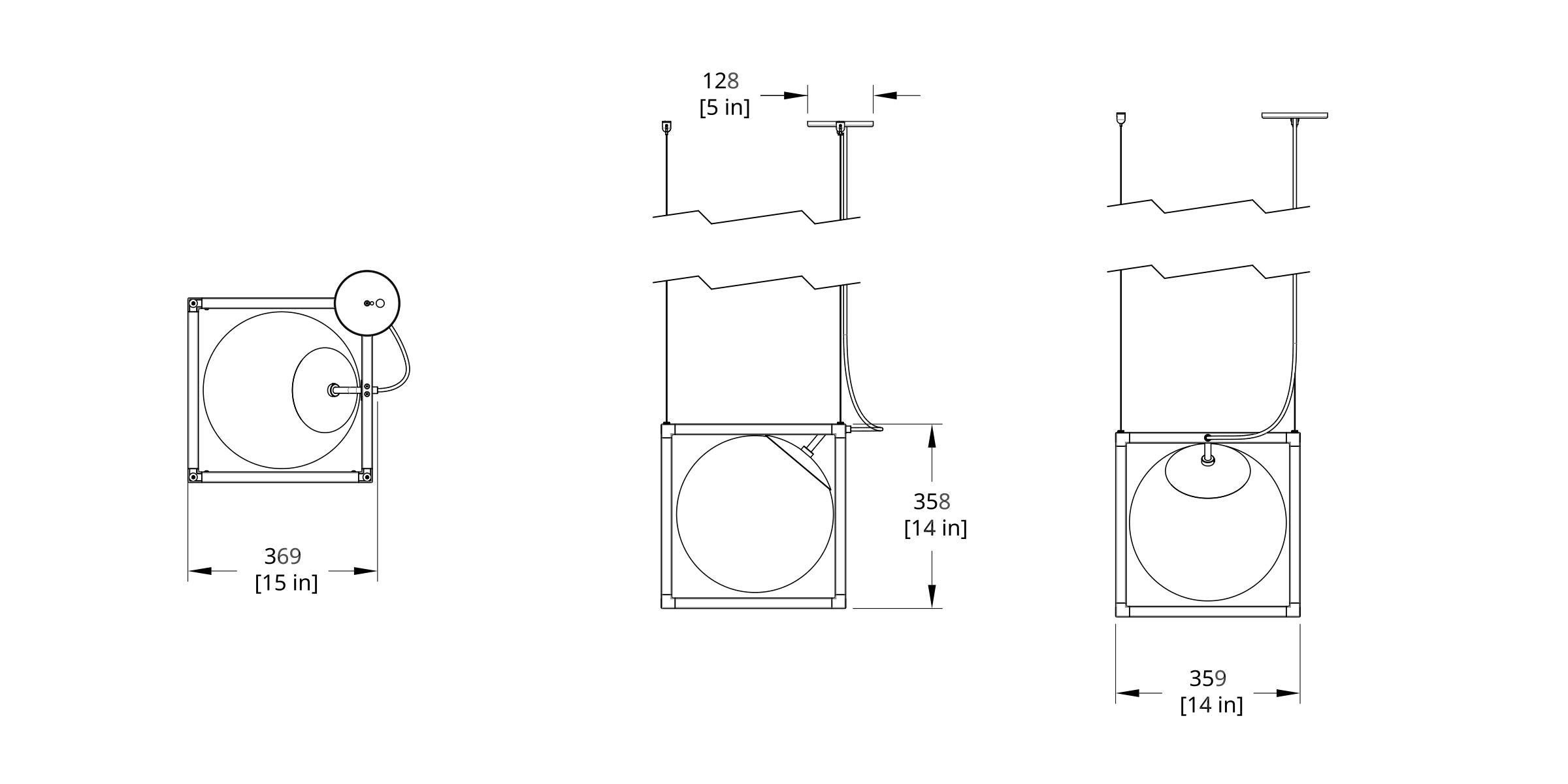 RGW-1 Witt Chandelier Dimension