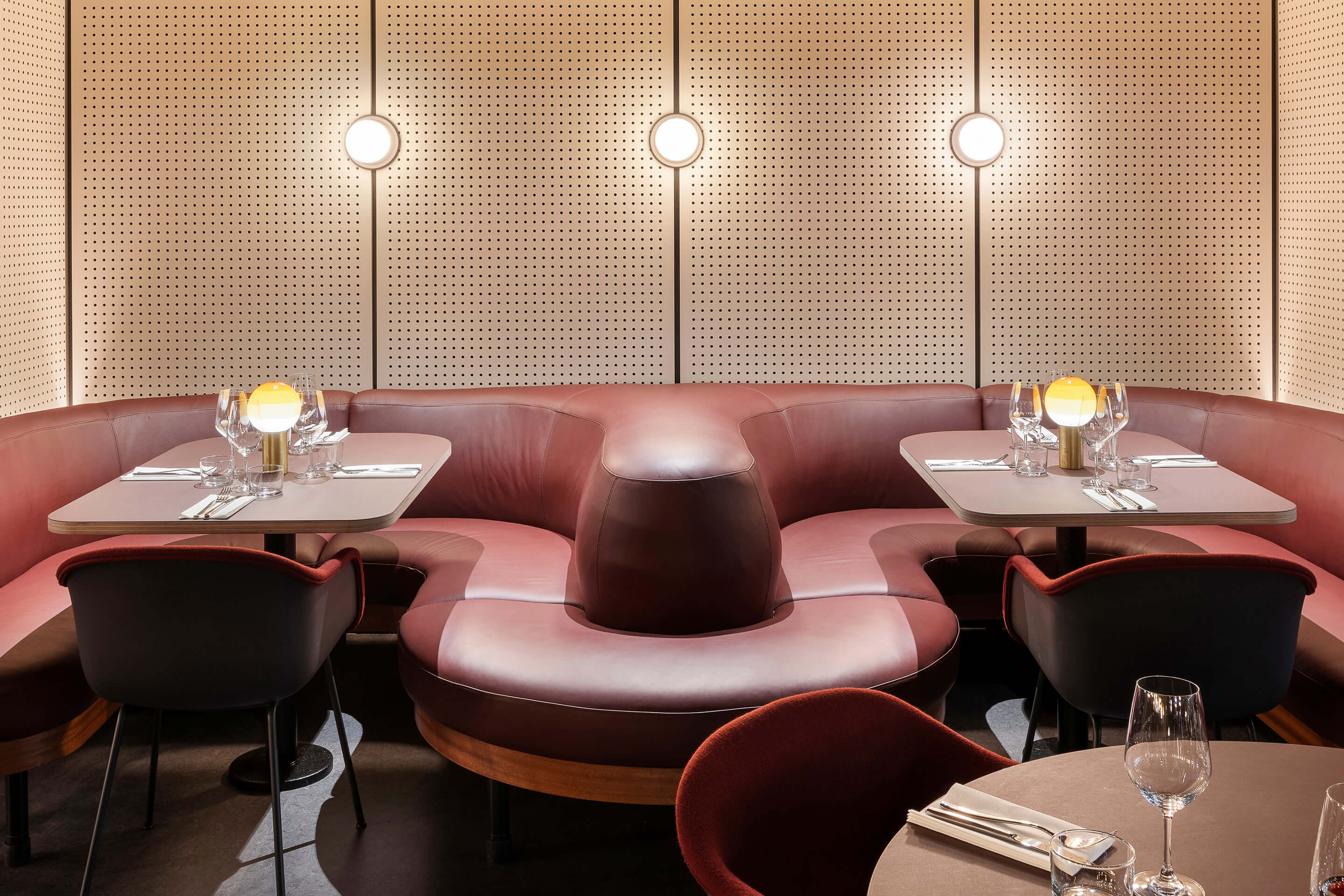 Spiritland — London, United Kingdom. Pastille Collar sconce, matte white