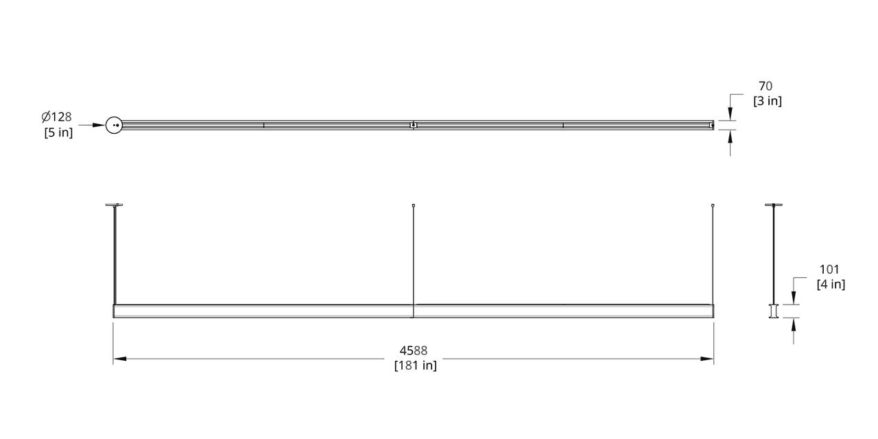 LS1-16 Latis 16' Pendant Dimension