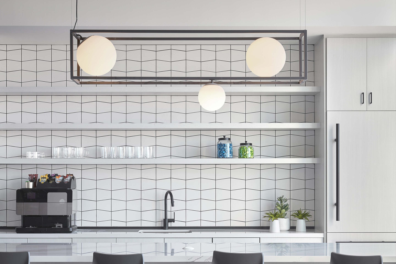 Cognizant Pega office — Mesa, AZ. Witt 3 chandelier, matte black