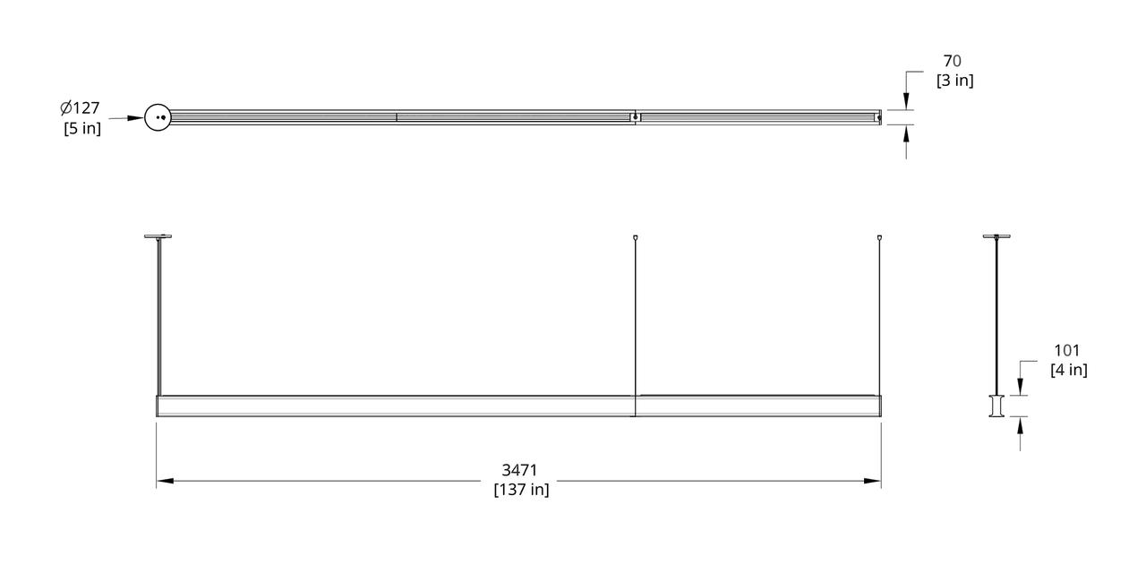 LS1-12 Latis 12' Pendant Dimension