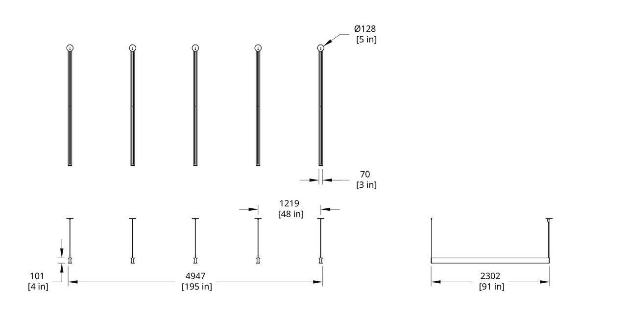 LS Latis Array 8' Dimension