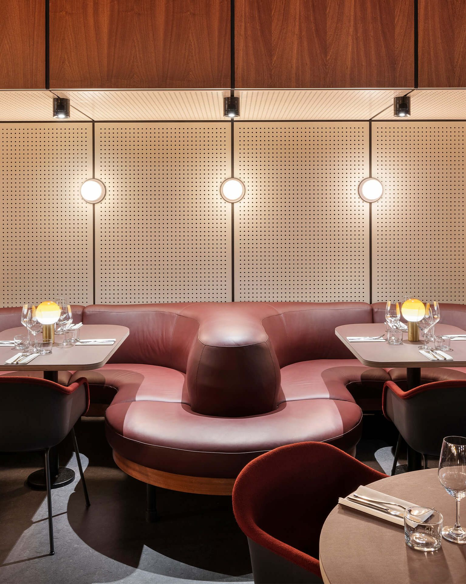 Pastille Collar Sconce installed in Spiritland, in London, United Kingdom