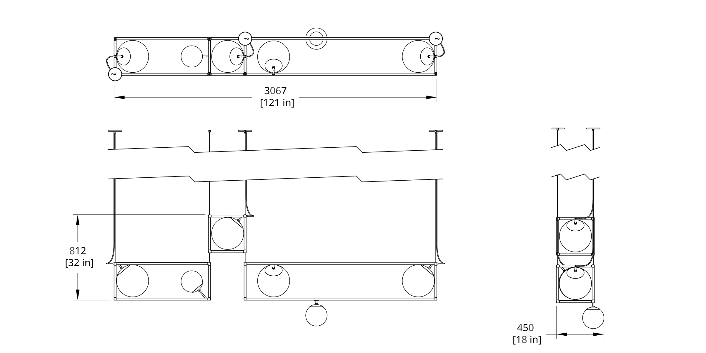 RGW-5 Witt Chandelier Dimension