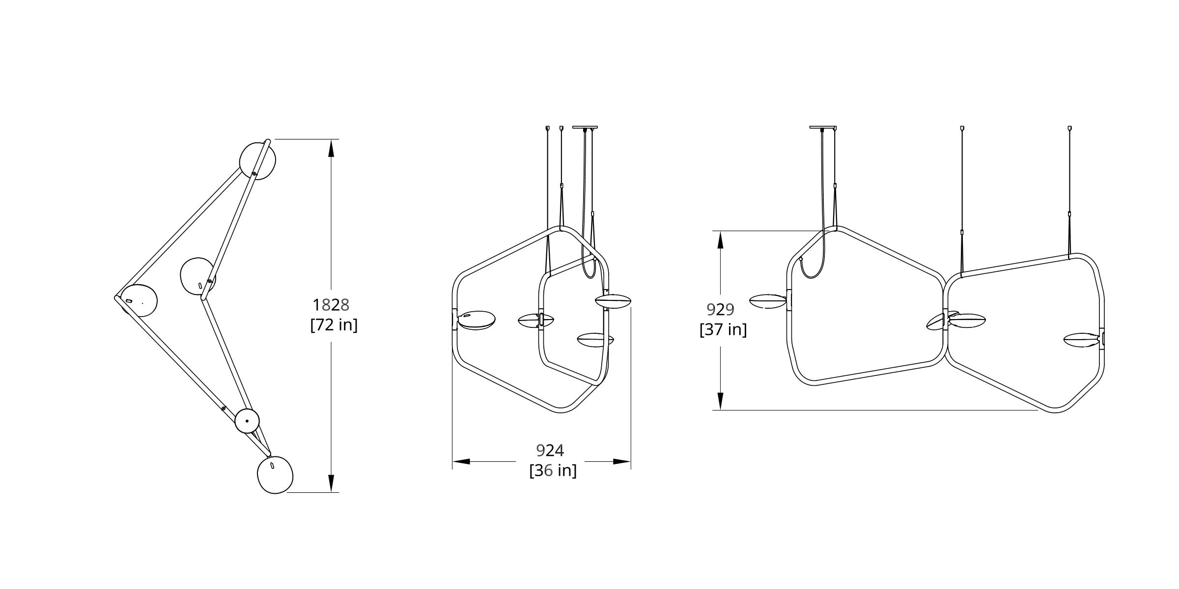 PD-4 Palindrome Chandelier (Dynamic) Dimension