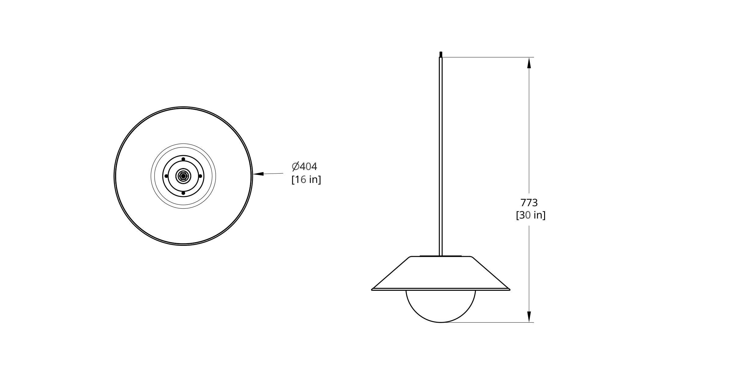 AK Akoya Pendant 14 Cord Dimension