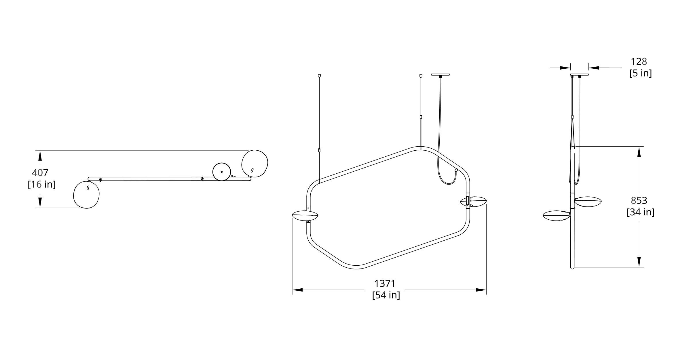 PD-2 Palindrome Chandelier (Line) Dimension (Feature)