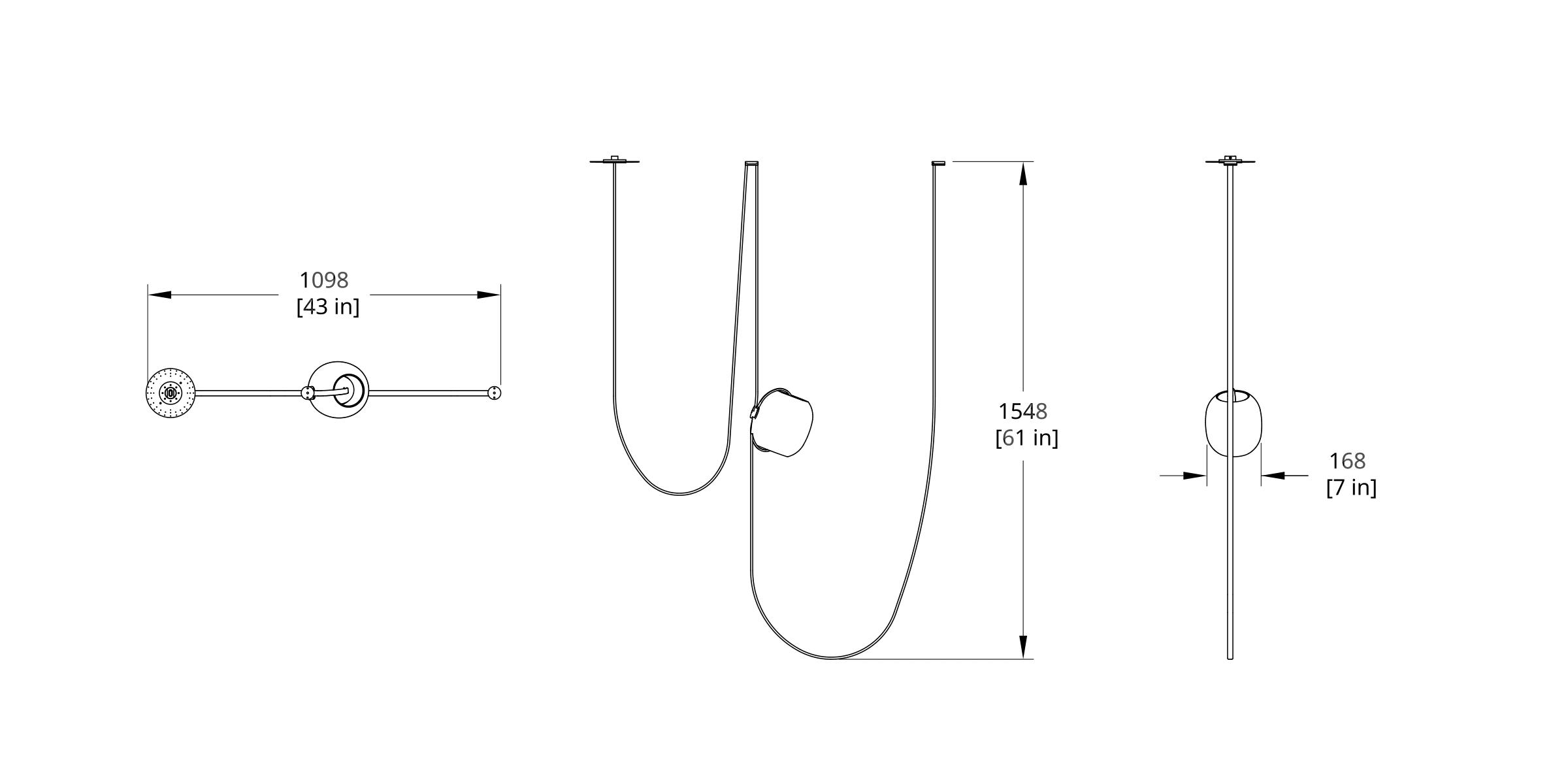 VS-1 Vitis Chandelier Dimension