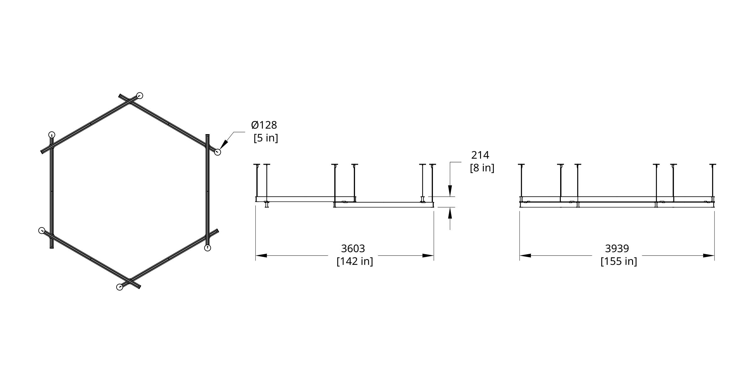 LS6-888888 Latis Hex 8' Dimension