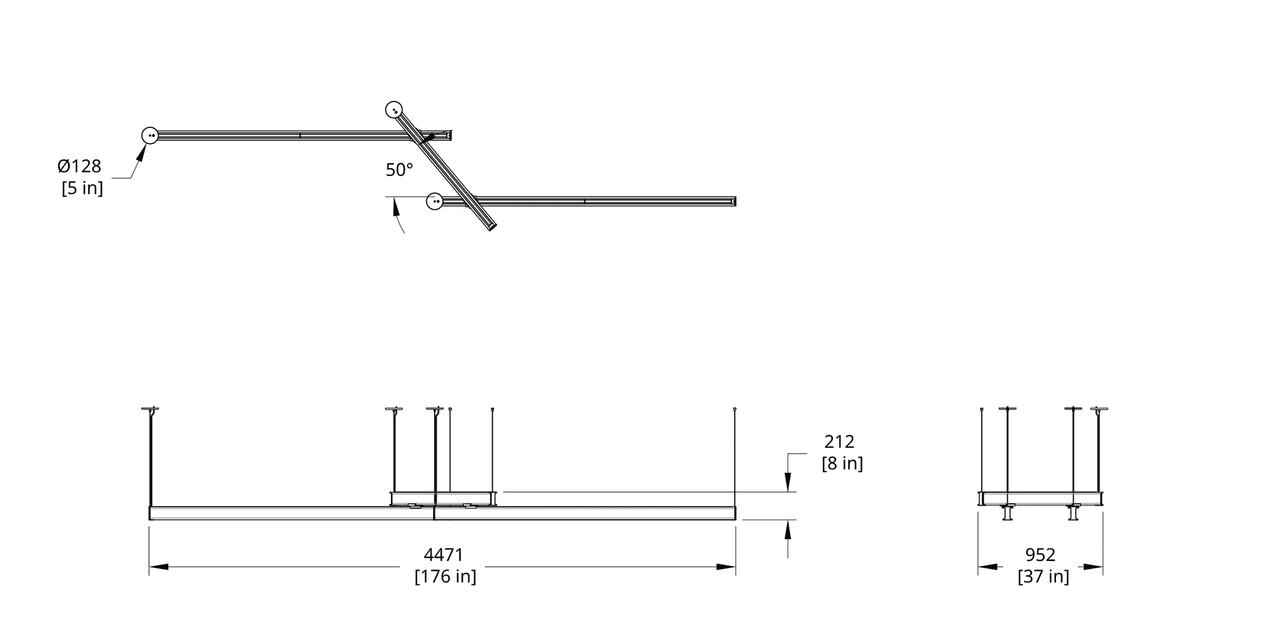 LS3-848 Latis Zig Zag 8-4-8 (Style 50) Dimension