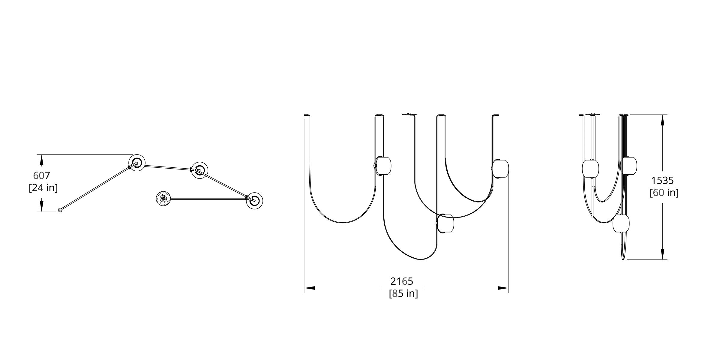 VS-3 Vitis Chandelier Dimension (Feature)