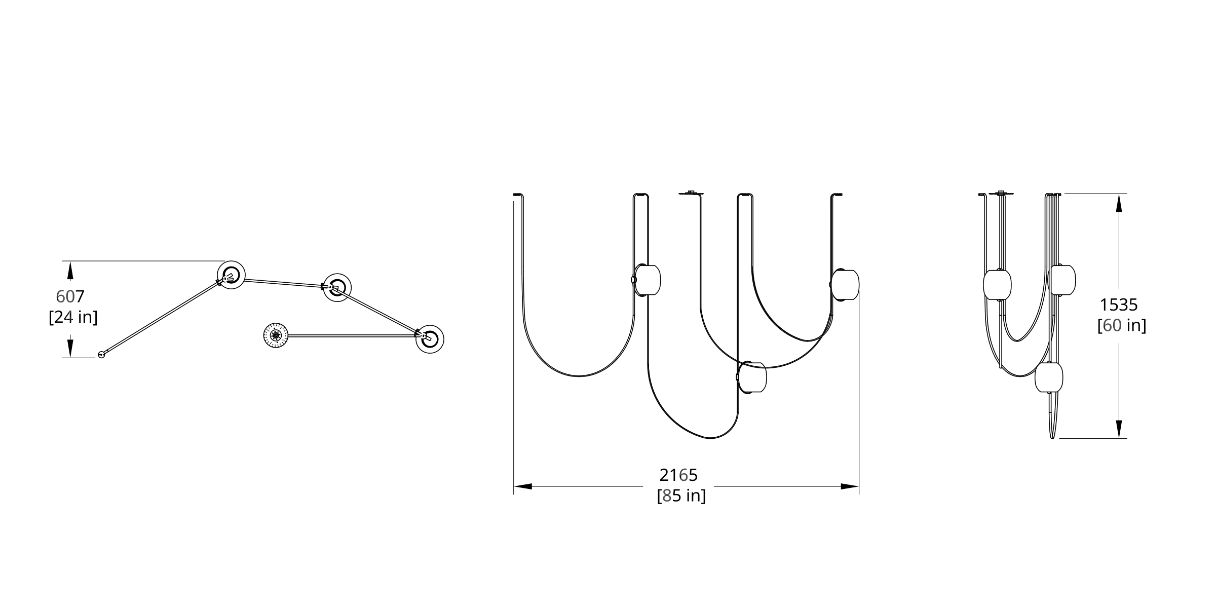 VS-3 Vitis Chandelier Dimension