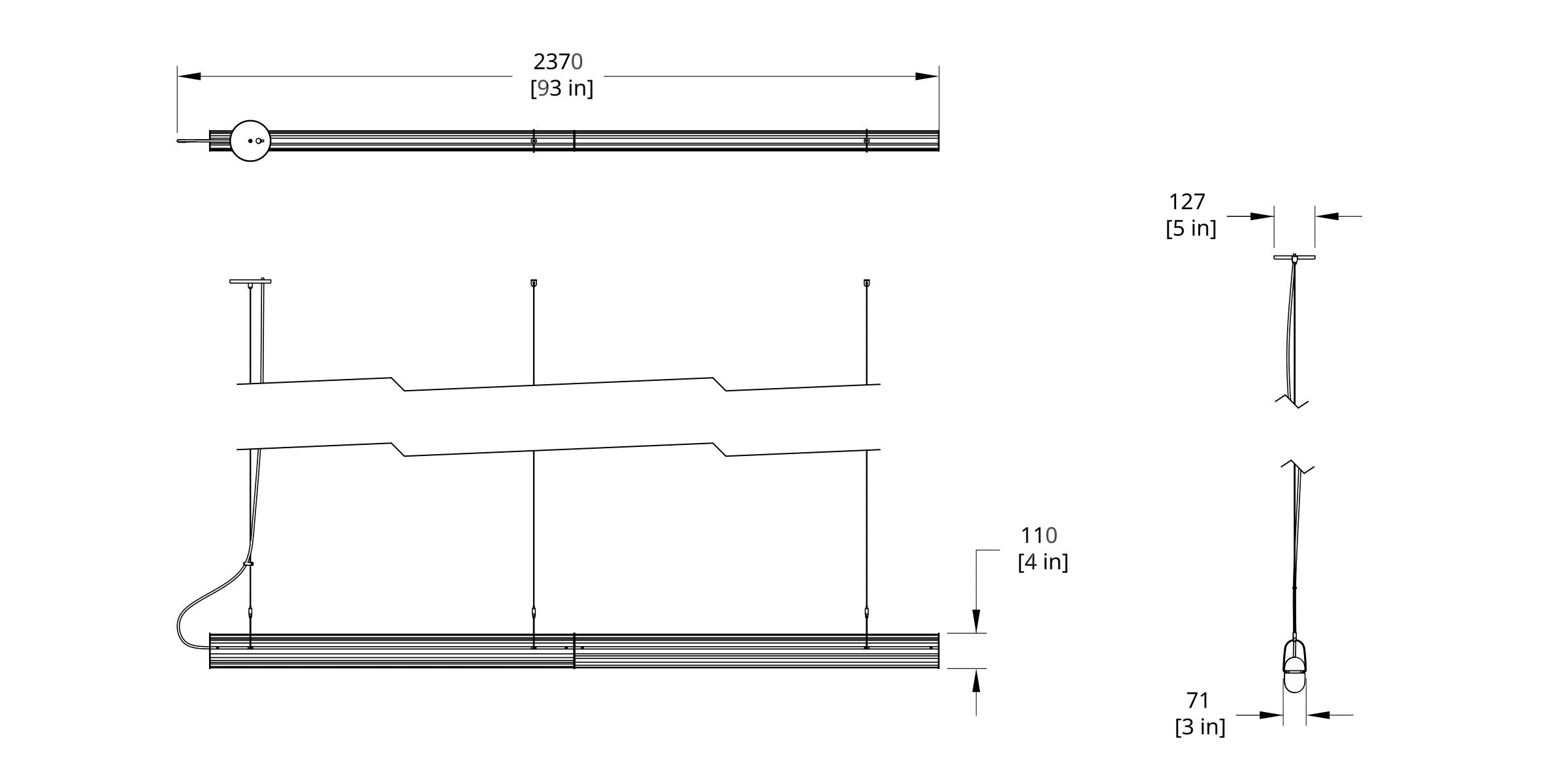 QP-88 Queue Pendant Dimension